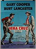 1950's VERA CRUZ Original Danish Movie Poster Gary Cooper Burt Lancaster