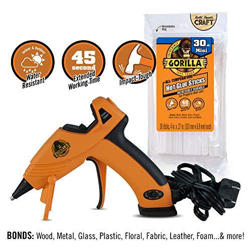 Glue Gun Crafts (Gorilla 8401509 Hot Glue Gun and Sticks, 30)