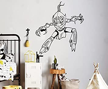 Amazon.com: Cartoon Robot Warrior Wall Vinyl Decal Cyber ...
