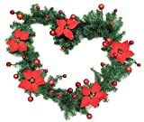 Artificial Pine Christmas Garland-accurately Mimics Texture and Color of Natural, Freshly Cut Pine Needles,9Ft/106Inch for Stairs fireplaces Festive Party Decoration,Indoor/Outdoor Garland Decoration