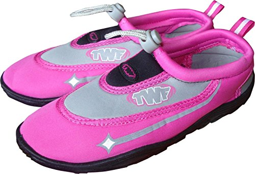 Mens Ladies Wetsuit Shoes Girls TWF Beach Aqua Shoes Water Graphic Pink Boys EqrRq