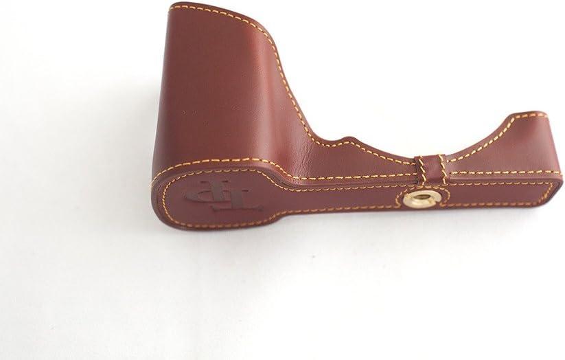 Handmade Genuine real Leather Half Camera Case bag cover for Sony NEX7 NEX-7 Brown color