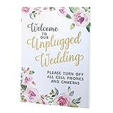 Lillian Rose SI695 UN Watercolor Unplugged Wedding Sign, Multi