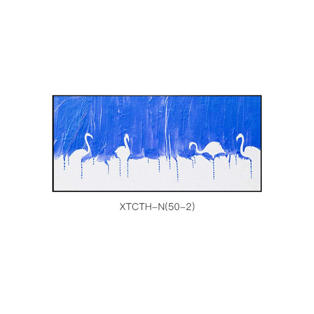 DEED Flamingo bedside painting, framed painting, modern simple European animal pattern paintings, creative style, beautiful decorative painting,blue,50150 by DEED