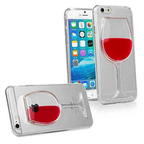 iPhone 6Cas, BoxWave® [vinobella Étui] TPU durable Case w/liquide Verre à vin design pour Apple iPhone 6, 6S