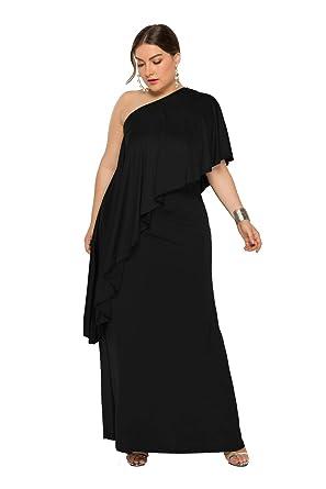 YZ Vestido de Noche de cóctel Formal for Mujer, Falda Suelta ...
