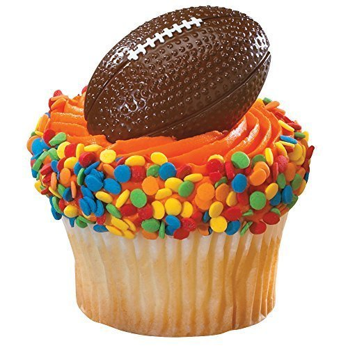 Price comparison product image DecoPac 2D Football Cupcake Rings (24-Pack)