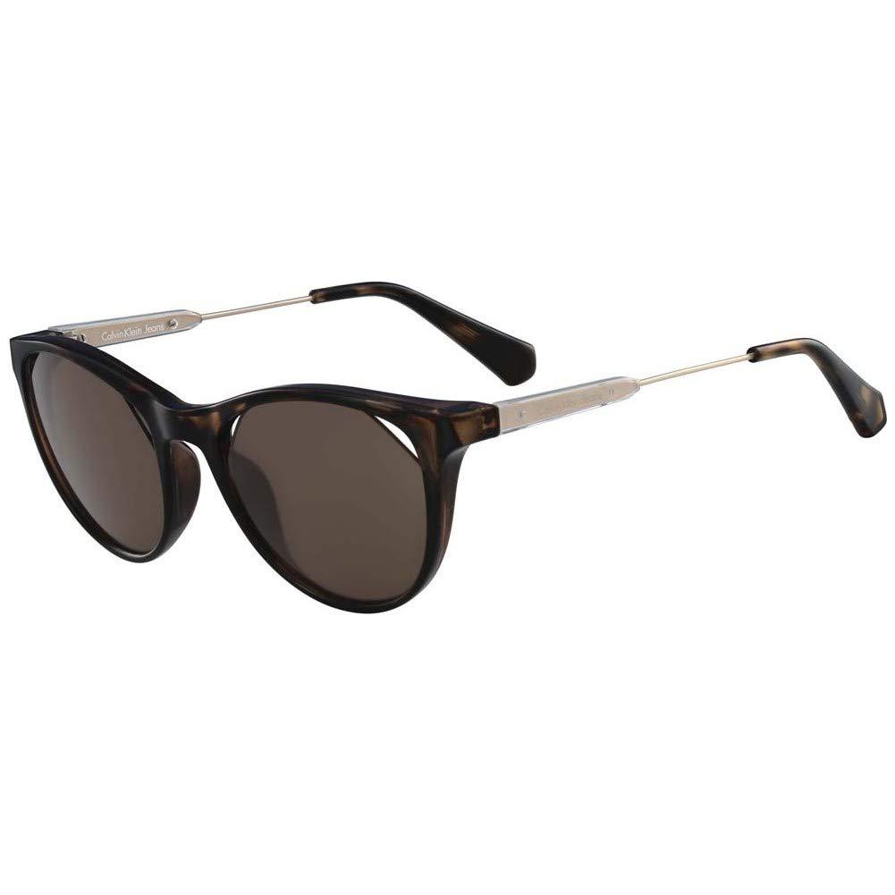 d9f4d55635296 Óculos Calvin Klein Jeans Ckj510S 215 Tartaruga Ouro Lente Marrom Flash Tam  52  Amazon.com.br  Amazon Moda
