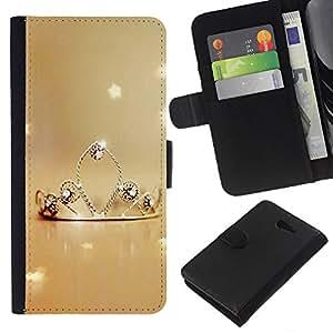KLONGSHOP // Tirón de la caja Cartera de cuero con ranuras para tarjetas - Naturaleza Princesa - Sony Xperia M2 //