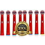 Dr Kao 8 pack Toothbrush heads children Toothbrush Heads Kids Made with Dupont Nylon Electric Toothbrush Heads for Children standard for oral b electric toothbrush heads kids 8 pack EB-10A (8)