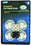 Camco 00983 Gas Range Knobs Top Burner (White)
