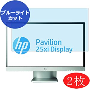 """【2 Pack】 Synvy Anti Blue Light Screen Protector for HP Pavilion 25xi 25"""" Display Monitor Anti Glare Screen Film Protective Protectors [Not Tempered Glass]"""