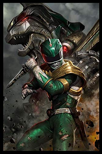 Power Rangers Limited Edition Fine Art Lithograph'Green Ranger' by Carlos Dattoli