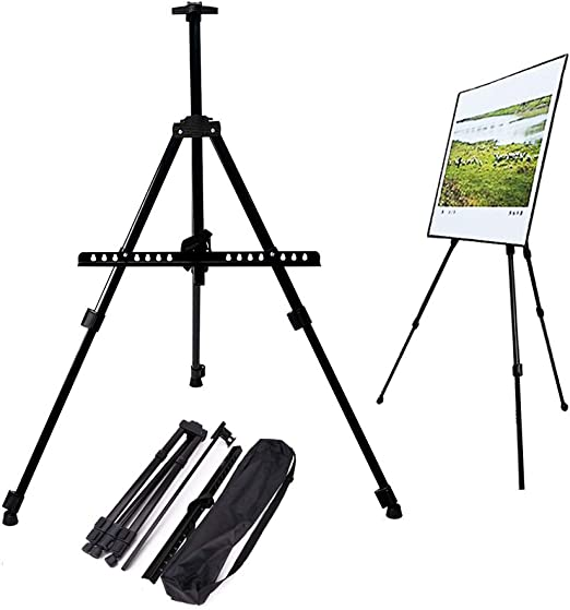 Primecables 63 Height Adjustable Portable Art Easel Metal Telescopic Tripod Display Stand For Adults And Kids Painting Posters Drawing Studio Field Floor Table Top With Carrying Case Amazon Ca Home Kitchen