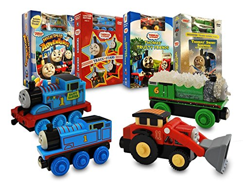 - Thomas and Friends Movie & Train Set Collection # 7 (Thomas And Friends - High Speed Adventures / Track Stars / Thomas' Trusty Friends / Snowy Surprise And Other Adventure)