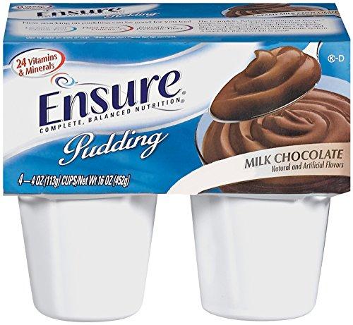 Abbott Nutrition 54846 - Ensure Pudding Supplement - Chocolate 4 oz Cups Case/48