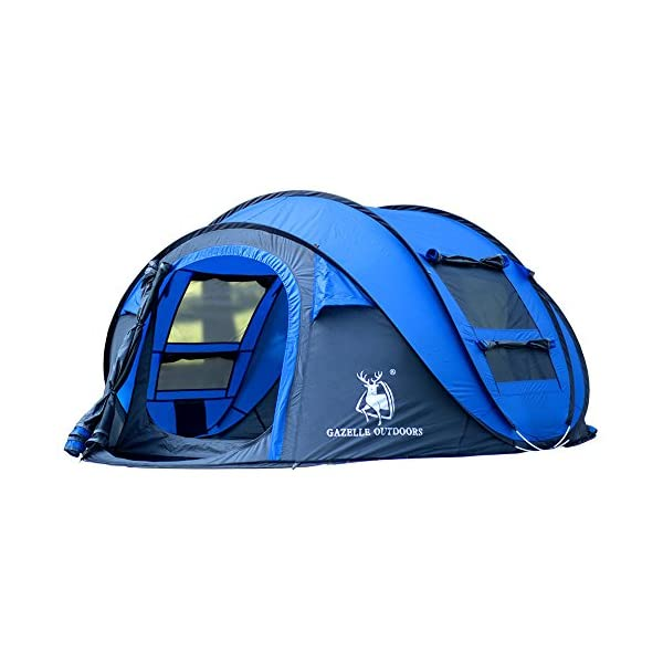 GAZELLE-OUTDOORS-3-4-persons-Tent-Single-Camping-Tent-One-Room-Pop-up-tent-Waterproof-Windproof-Ultraviolet-Resistant-Foldable-for-Hiking