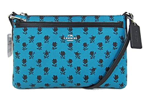 BADLANDS EAST WITH CANVAS POP COACH CROSSBODY UP FLORAL IN WEST COATED POUCH PRINT F38159 Cgw5z