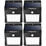 Solar Lights, MagicPro 16 LED Wireless Solar Lights Waterproof Motion Sensor Outdoor Light for for Patio, Deck, Yard, Garden with Motion Activated Auto On/Off (4-Pack)