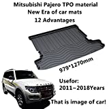 AUNAZZ/Trunk Mat Cover For Mitsubishi pajero 2011-2018Years Trunk Mat Cover Rubber Rear Trunk Cargo Liner Trunk Tray Floor Mat Cover 1 PCS