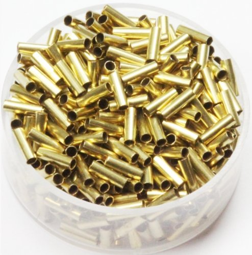 Brass Tube Spacer Beads 2 x 6 mm 500 Pcs.(Hole 1.5 mm) Raw Solid Bras ()