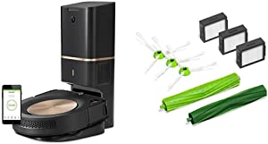 iRobot Roomba s9+ (9550) Robot Vacuum with Automatic Dirt Disposal and E & I Series Replenishment Kit, (3 High-Efficiency Filters, 3 Edge-Sweeping Brushes, and 1 Set of Multi-Surface Rubber Brushes)