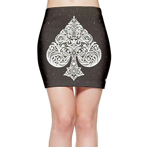 - Ace Of Spades Poker Card Cute Women'sshort Skirts Plus Size Tie Dye S-XL
