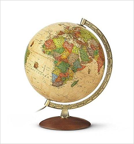 Antiker Globus mit Beleuchtung