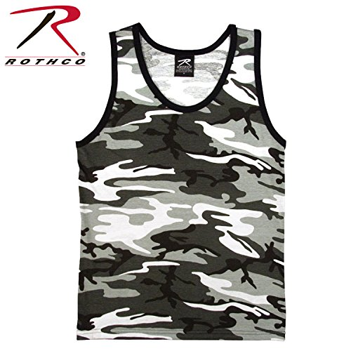 Rothco Tank Top, City Camo, X-Large (Rothco Sleeveless Tank Top)