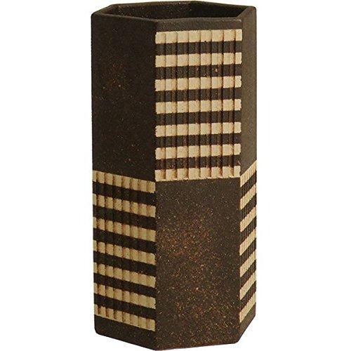 信楽焼 ストライプ六角傘立(全高48cm×全幅26cm) B075LFWH6L