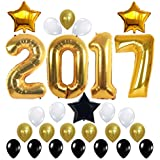2017 balloons gold decorations banner with gold black white latex balloon large size perfect for eventbridal wedding and graduations party supplies - Gold Decorations