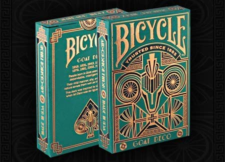 Carte Bicycle Goat Deco