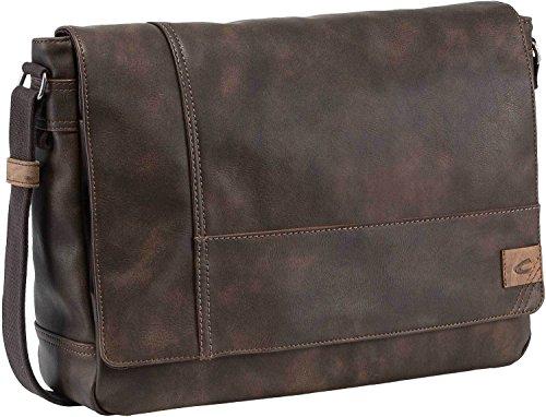 camel active Messenger bag; 251 Laos Borsa Messenger, 40 cm, Nero (Schwarz)