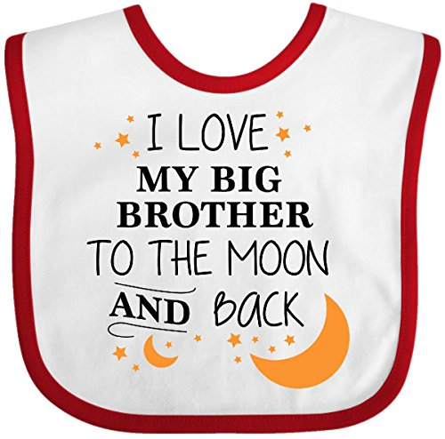 Inktastic - I Love My Big Brother To The Moon and Back Baby Bib White/Red 296fe ()