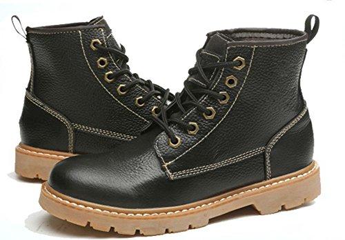 otoño de elevadores botas Sra casuales primavera zapatos Black señora botas Martin y de ZwOHXqw
