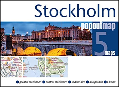 PopOut Map Stockholm Double: Handy, pocket size, pop-up map of ... on
