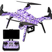 MightySkins Protective Vinyl Skin Decal for 3DR Solo Drone Quadcopter wrap cover sticker skins Stained Glass