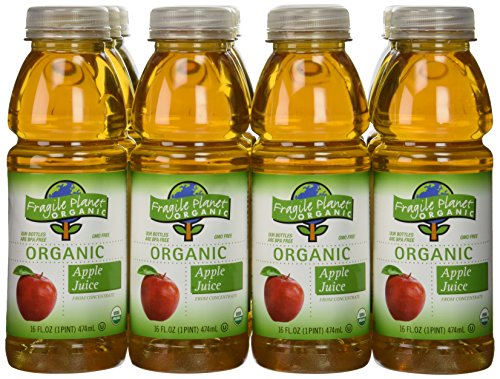 Fragile Planet Organic 100% Apple Juice, 16 Ounce (Pack of 12) (No Sugar Added Fruit Juice compare prices)