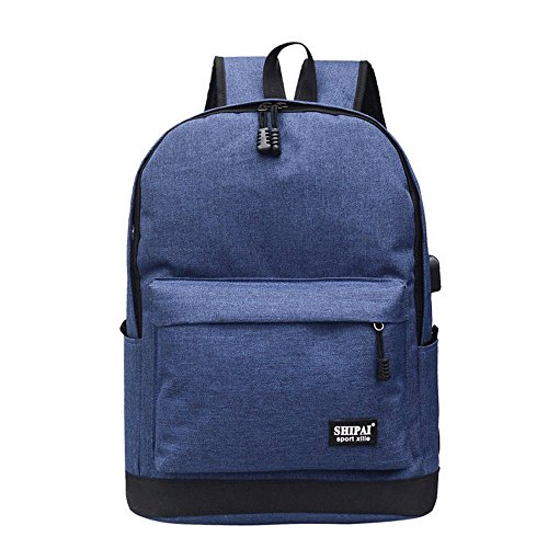 Bag Girl Bags Boy Fashion Women TianranRT School Zipper Blue Backpack Teenage Shoulder 7BvAwEq
