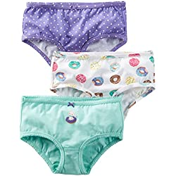 Carter's Girl's Toddler 3 Pack Girl's Underwear (2T/3T, Cat n Doughnut)