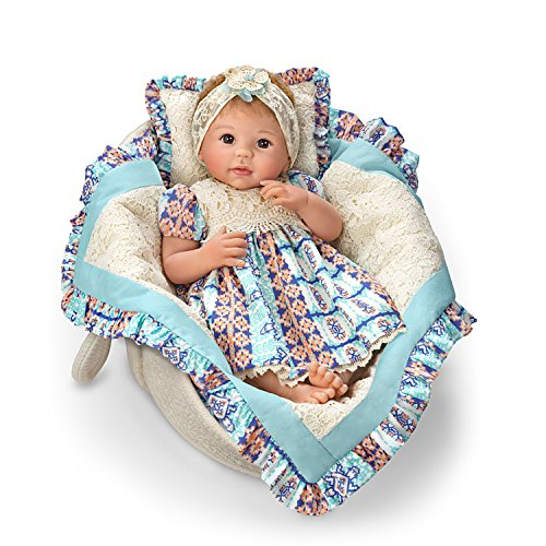 (The Ashton-Drake Galleries Linda Murray Delilah Lifelike So Truly Real Baby Doll with Basket:by)
