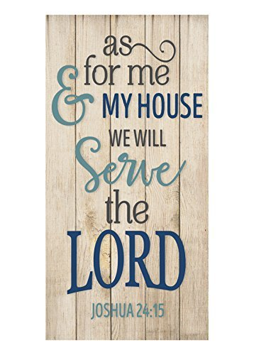 Plaque Housewarming (Teisyouhu Wooden Home Sign As For Me And My House We Will Serve The Lord Plaque Hanging Sign Housewarming Gift)