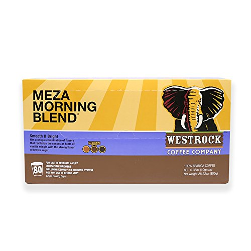 Westrock Coffee Company Meza Morning Blend Best Medium Roast Gourmet Single Serve Cup 80 Count