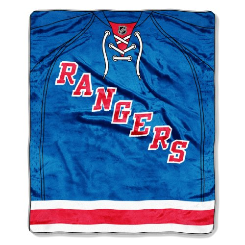 Ny Rangers Throw (The Northwest Company Officially Licensed NHL New York Rangers Jersey Plush Raschel Throw Blanket, 50
