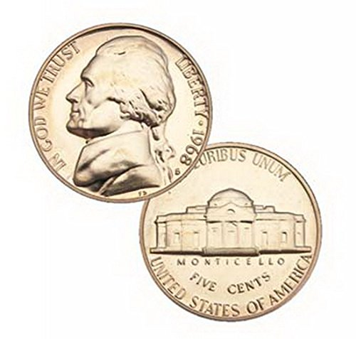 5 Cent Nickel - 1968 S Us Mint Jefferson Proof 5 Cent Nickel Coin