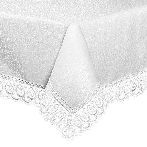 Mantel mantel Camino de mesa blanco costuras Punta hueca color ...