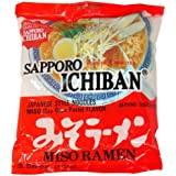 Sapporo Ichiban Ramen, Miso, 3.55-Ounce Packages (Pack of 24)