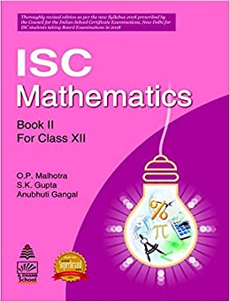 Amazonin Buy S Chands Isc Mathematics Book Ii For Class Xii Book