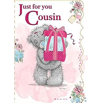 Tatty Teddy Card Happy Birthday Just For You Cousin Amazon