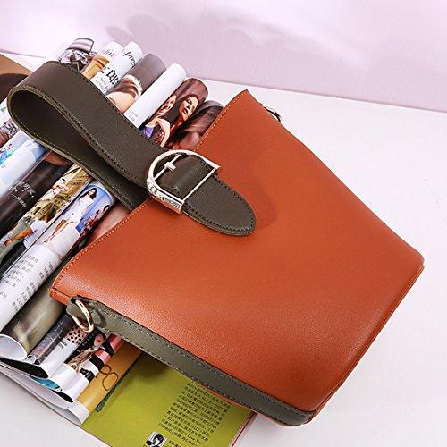 de bolso mano MinottaUKD6052 Marrón de Mujer elegante Sintético Minotta wXFHqcngq